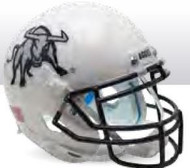 Utah State Aggies Alternate White Bull Schutt Mini Authentic Helmet