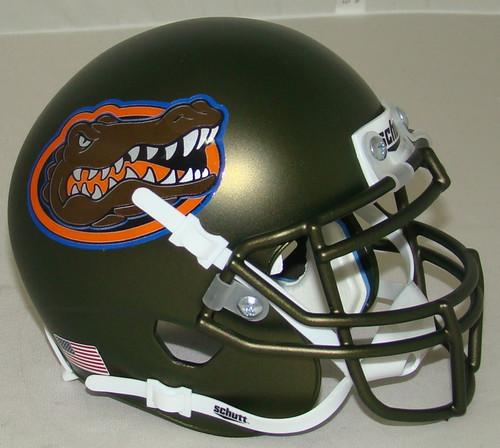 Florida Gators Swamp Green Alternate Schutt Mini Authentic Football Helmet
