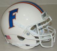 Florida Gators Alternate White Chrome Schutt Mini Authentic Football Helmet
