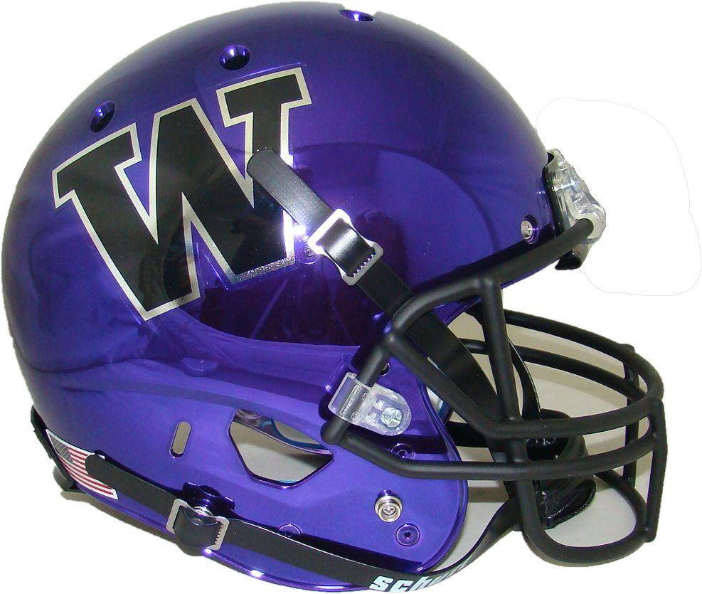 low priced fa9ff 2fe0a Washington Huskies Alternate Purple Chrome Schutt Full Size Replica Helmet