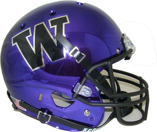 Washington Huskies Alternate Purple Chrome Schutt Full Size Replica XP Football Helmet