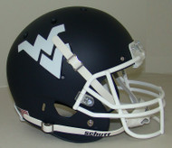 West Virginia Mountaineers Schutt Alternate Matte Navy Full Size Replica Helmet