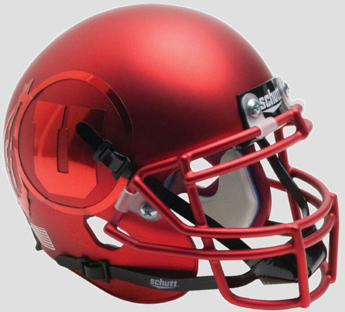Utah Utes Alternate Red Chrome Bowl Game Schutt Full Size Replica XP Football Helmet
