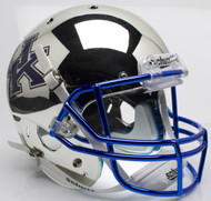 Kentucky Wildcats Silver Chrome Schutt Full Size Replica XP Football Helmet