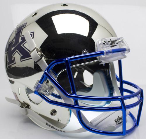 Kentucky Wildcats Silver Chrome Schutt Full Size Replica XP Football Helmet