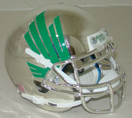 North Texas Mean Green Chrome Schutt Authentic Mini Football Helmet