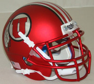 Utah Utes Satin Red Alternate 16 Schutt Mini Authentic Helmet