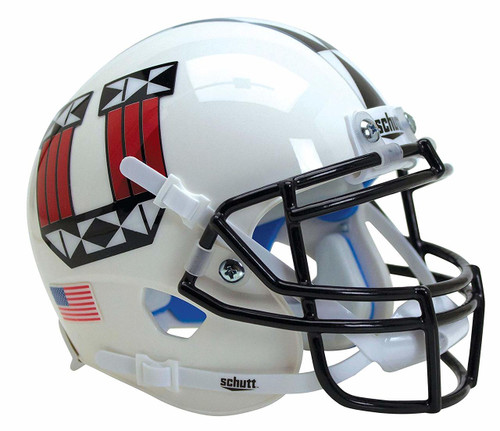 Utah Utes White Tribal Alternate Schutt Mini Authentic Football Helmet