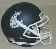 Washington State Cougars Alternate Carbon Gray Schutt Mini Authentic Helmet