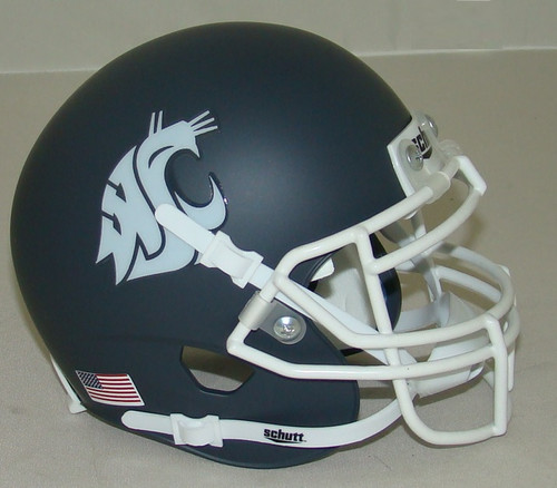 Washington State Cougars Alternate Carbon Gray Schutt Mini Authentic Football Helmet