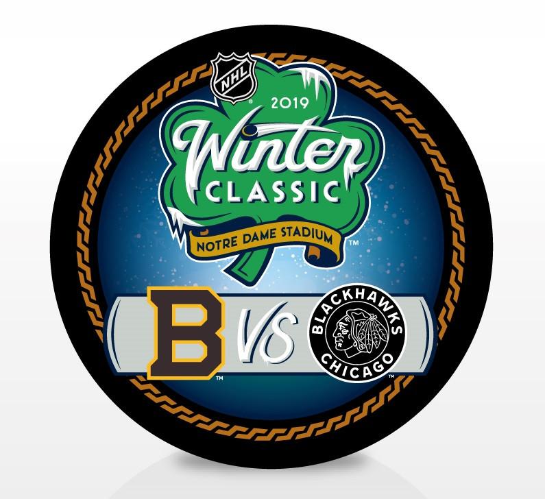 2019 Winter Classic NHL Dueling Inglasco Souvenir Puck - Boston Bruins vs.  Chicago Blackhawks. Inglasco · Image 1 77cd2575f