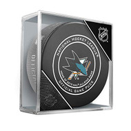 San Jose Sharks Inglasco Official Hockey Puck in Cube (2019 All-Star Edition)