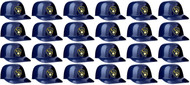 Milwaukee Brewers MLB 8oz Snack Size / Ice Cream Mini Baseball Helmets - Quantity 24