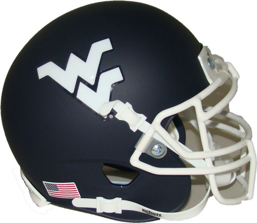 West Virginia Mountaineers Matte Navy Schutt Authentic Mini Football Helmet
