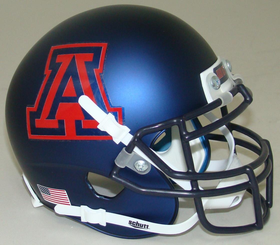1d758bdb Arizona Wildcats Alternate Navy Hard Edge Schutt Mini Authentic Helmet