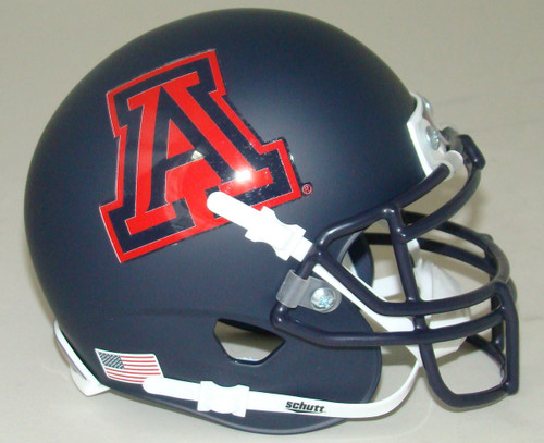 Arizona Wildcats Alternate Black Matte Hard Edge Schutt Mini Authentic Football Helmet