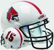 Ball State Cardinals Alternate White Schutt Mini Authentic Helmet