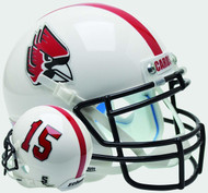 Ball State Cardinals Alternate White Schutt Mini Authentic Football Helmet