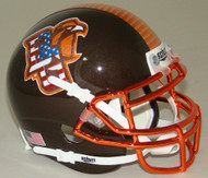 Bowling Green Falcons Alternate Patriotic Chrome Schutt Authentic Mini Football Helmet