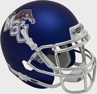 Memphis Tigers Alternate Blue Chrome Schutt Mini Authentic Helmet