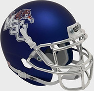 Memphis Tigers Alternate Blue Chrome Schutt Mini Authentic Football Helmet