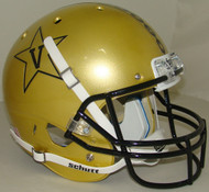 Vanderbilt Commodores Alternate Gold with Black Anchor Schutt Full Size Replica Helmet