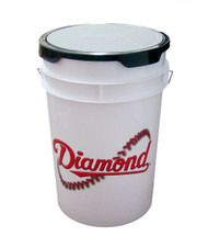 Diamond 6 Gallon White Bucket With Padded Lid - Model BKT W