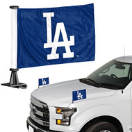MLB Los Angeles Dodgers Car Flag Set 2 Piece Ambassador Style