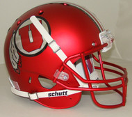 Utah Utes Alternate 16 Satin Red Schutt Full Size Replica Football Helmet