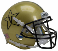 Vanderbilt Commodores Gold Alternate Anchor Schutt Mini Authentic Helmet