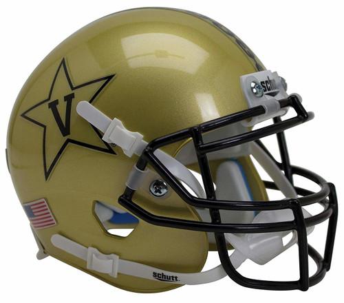 Vanderbilt Commodores Gold Alternate Anchor Schutt Mini Authentic Football Helmet