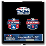 2018 World Series Commemorative Pin Set - Dodgers vs. Red Sox - Limited Edition 2018