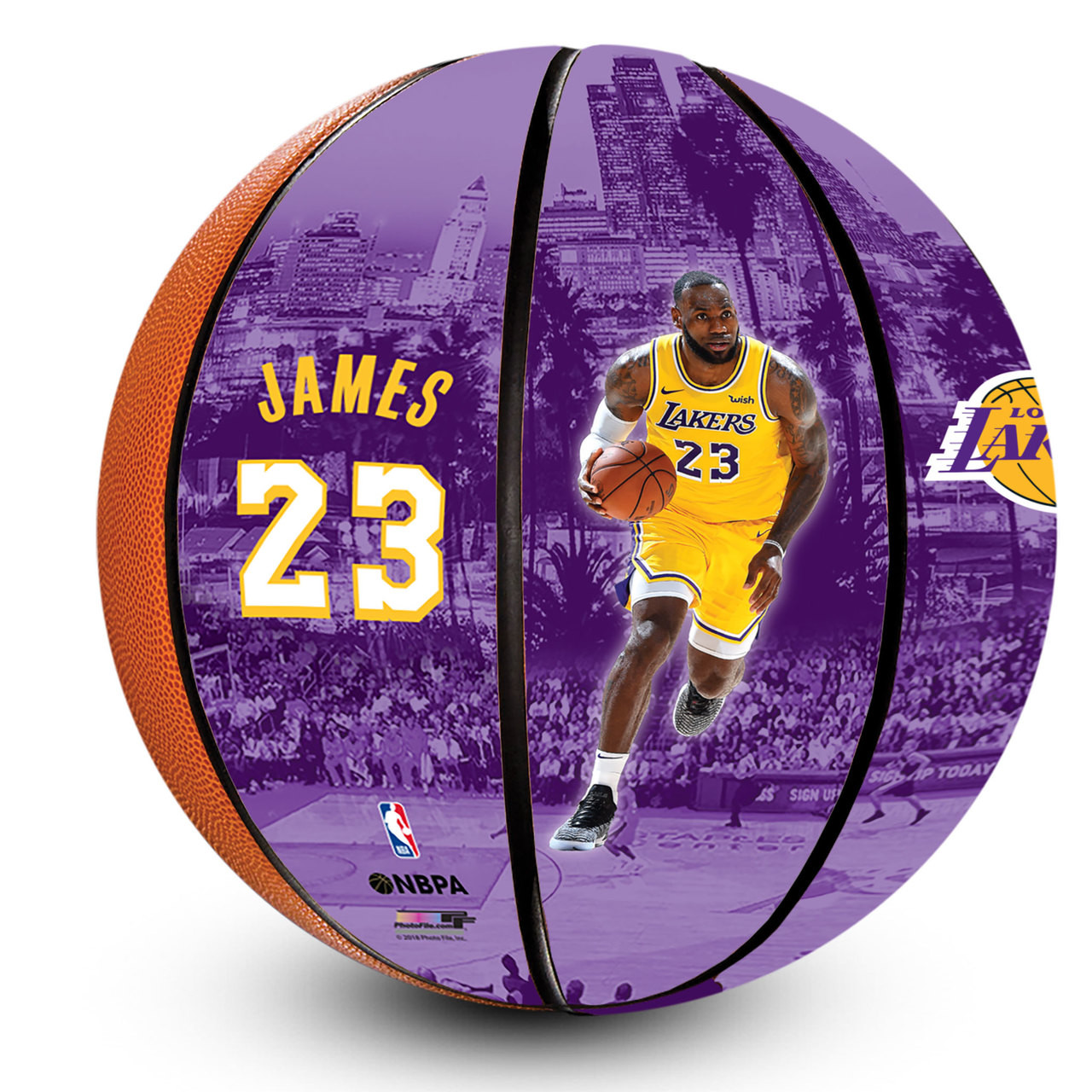 3df8936be LEBRON JAMES LOS ANGELES LAKERS OFFICIALLY LICENSED DEBUT NBA BASKETBALL.  NBA · Image 1
