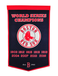 Winning Streak Boston Red Sox 2018 MLB World Series Champions Dynasty Banner
