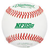 Diamond DOL-1 HS New NFHS Official League Leather High School Baseballs (Dozen)