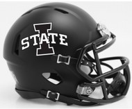 Iowa State Cyclones Matte Black NCAA Riddell SPEED Mini Football Helmet