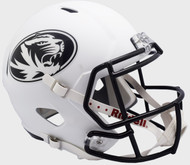 Missouri Tigers White SPEED Riddell Full Size Replica Football Helmet