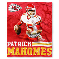 "NFL Patrick Mahomes Kansas City Chiefs Silk Touch Throw Blanket Size 50"" x 60"""