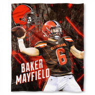 "NFL Baker Mayfield Cleveland Browns Silk Touch Throw Blanket Size 50"" x 60"""