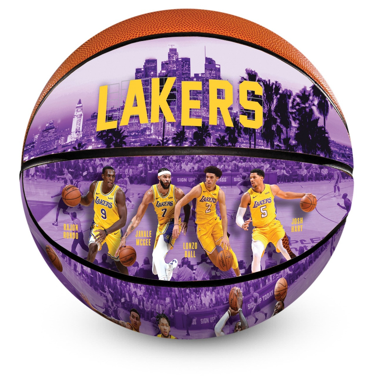 8788b3dc77e7c Los Angeles Lakers 2018/2019 Roster Officially Licensed Premium NBA  Basketball