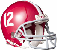Alabama Crimson Tide #12 Riddell Mini Football Helmet with Z2B Mask