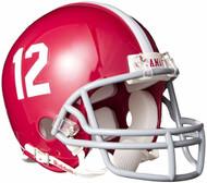 Alabama Crimson Tide #12 Riddell Mini Football Helmet with Z2B Mask