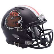 Oregon State Beavers Alternate Satin Matte Black NCAA Riddell SPEED Mini Football Helmet