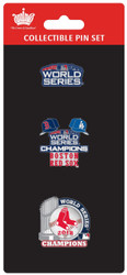 Boston Red Sox 2018 World Series Champions Official Lapel Pin Set
