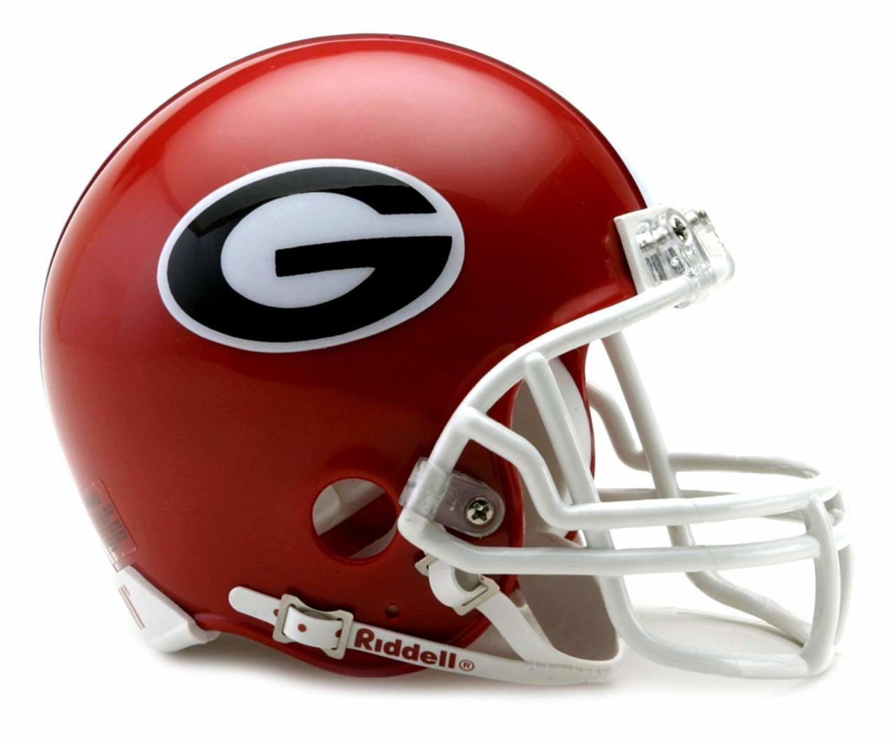 Riddell Georgia Bulldogs AMP Alternate Revolution Speed Replica Football Helmet College Mini Helmets