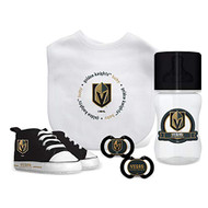 Las Vegas Golden Knights NHL Baby Essentials 5 Piece Newborn Infant Baby Gift Box Set