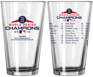 Boston Red Sox 2018 World Series Champions Official 16 oz. Roster Pint Glass
