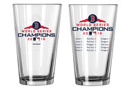 Boston Red Sox 2018 World Series Champions Official 16 oz. Summary Pint Glass