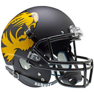 Missouri Tigers 2012 Matte Black Schutt Full Size Replica XP Football Helmet