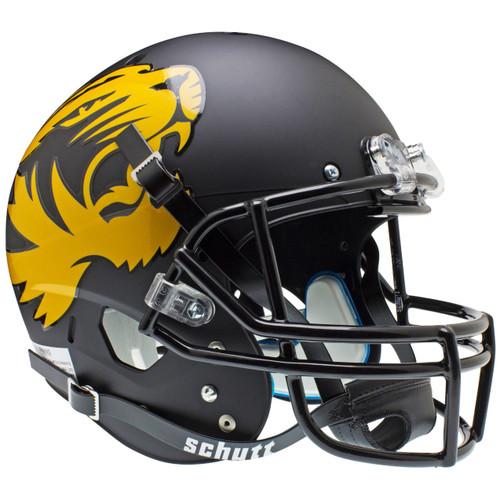 Missouri Tigers 2012 Matte Black Schutt Full Size Replica XP Football Helmet